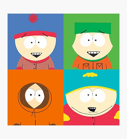Southpark- The Gang Photographic Print