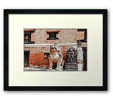 Side by Side we sit in Peace Framed Print