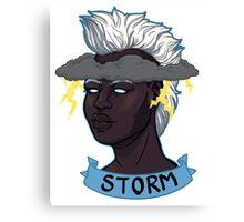 Ororo Munroe: Storm Crown Canvas Print