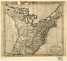 American Revolutionary War Era Maps 1750-1786 115 A map of the United States of America agreeable to the peace of 1783 Photographic Print