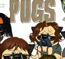 The Walking Pugs Sticker