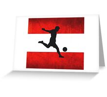 Austrian Soccer Greeting Card