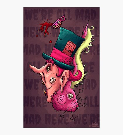 Mad Hatter and Hare Photographic Print