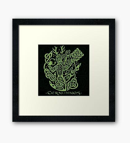 """Cernunnos, """"The Celtic Horned God"""" Framed Print"""