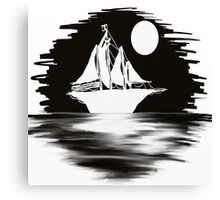 Ship In The Night Canvas Print
