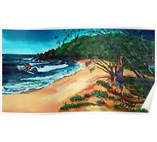 Reef2Beach Longboard Classic 2016 - Artscape no 2 ' carvin' the swell' Poster