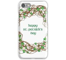 Shamrock Circle Wreath - Happy St. Patrick's Day! iPhone Case/Skin