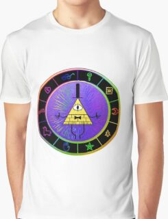 Gravity Falls Bill Cipher Wheel ~ Party Time Graphic T-Shirt