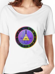 Gravity Falls Bill Cipher Wheel ~ Party Time Women's Relaxed Fit T-Shirt