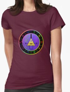 Gravity Falls Bill Cipher Wheel ~ Party Time Womens Fitted T-Shirt
