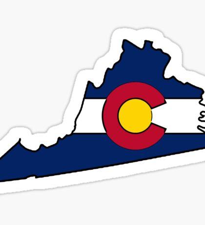 Virginia outline Colorado flag Sticker