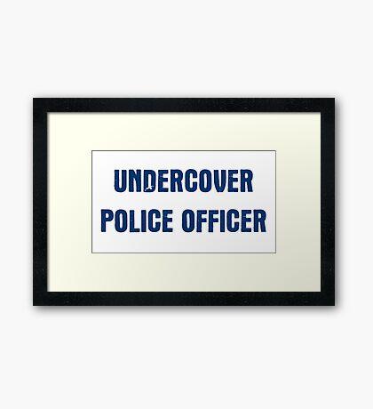 Undercover Police Officer Framed Print