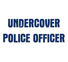 Undercover Police Officer Photographic Print