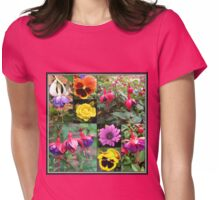 Summer Flowers Collage Womens Fitted T-Shirt