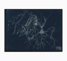 070  Preliminary sketch of the battle of Gettysburg showing troop positions July 2 1863 Inverted One Piece - Short Sleeve