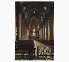 Interior of Il Duomo, Milan Italy One Piece - Short Sleeve