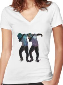 Dabb Twins Women's Fitted V-Neck T-Shirt