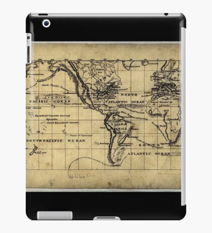 053  Map of the world on the Mercator projection iPad Case/Skin
