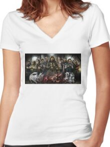 The Thing: Outpost 31 Women's Fitted V-Neck T-Shirt