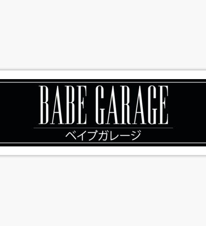 Babe Garage Sticker Slap Sticker