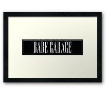 Babe Garage Japanese Sticker Slap Framed Print