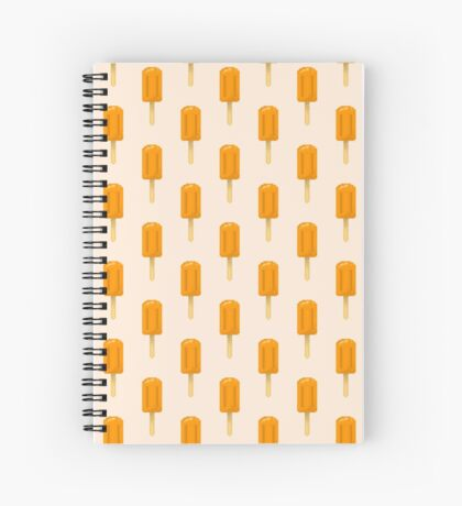 Cute Pixel Summer Orange Popsicles/ Ice Lollies Spiral Notebook