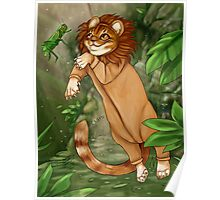 Tabby Jungle Cat Poster