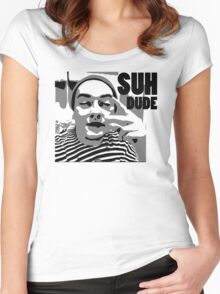 Ahaha Suh Dude Women's Fitted Scoop T-Shirt