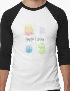 Watercolour Easter Eggs Men's Baseball ¾ T-Shirt