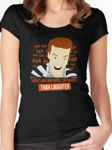 Laughter is Contagious Women's Fitted Scoop T-Shirt