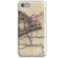 156 Map of 11 000 acres of iron and coal lands in Wythe Co Va iPhone Case/Skin