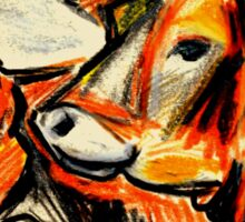 Young Heifers in Summer-Study Sticker