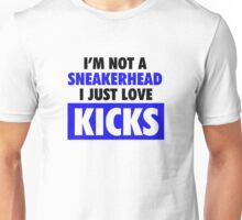 I'm not a Sneakerhead I just Love Kicks- Royals Unisex T-Shirt