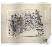 115 A topographical map of that portion of The Manor of Leeds belonging to Col MG Harman of Staunton Va Poster