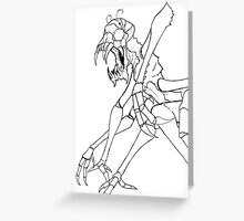 Insectoid Alien Greeting Card