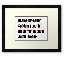 Funny Hit List Framed Print