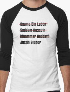 Funny Hit List Men's Baseball ¾ T-Shirt