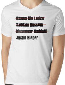 Funny Hit List Mens V-Neck T-Shirt