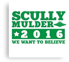 Scully & Mulder Campaign 2016 Canvas Print