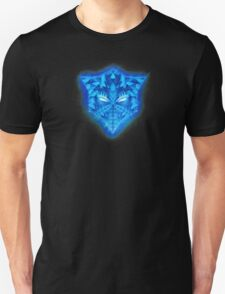Deep Blue Collosal Low Poly Triangle Pattern -  Modern Abstract Cubism  Design Unisex T-Shirt
