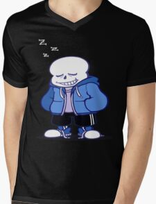Undertale Sans sleeping shirt. Mens V-Neck T-Shirt