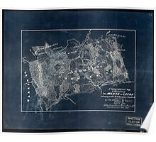 115 A topographical map of that portion of The Manor of Leeds belonging to Col MG Harman of Staunton Va Inverted Poster