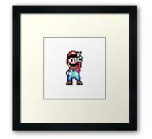 super mario Framed Print