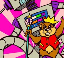 """Bear Prince & Robot"" by William Slone Sticker"