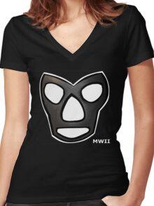 Mr Wrestling II Women's Fitted V-Neck T-Shirt