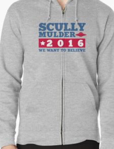 Scully & Mulder Campaign 2016 Zipped Hoodie
