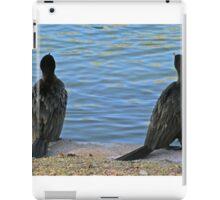 Two cormorants. iPad Case/Skin