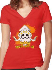 Gotta Splat em' all! Orange Women's Fitted V-Neck T-Shirt