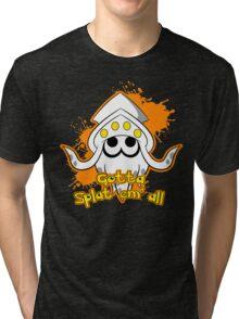 Gotta Splat em' all! Orange Tri-blend T-Shirt