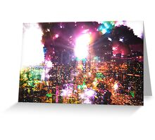 Neon Nights Greeting Card